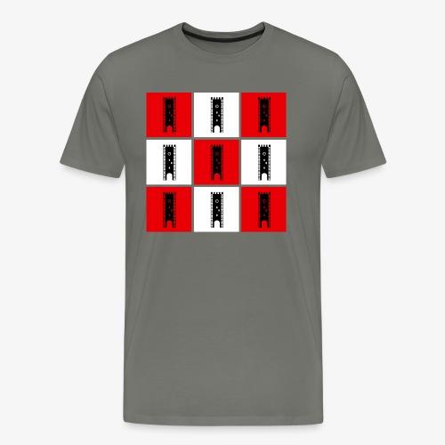 Nagelschmiedturm rot-weiß - Männer Premium T-Shirt