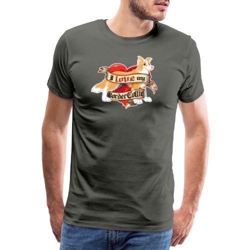 I Love My Border Collie - Red - Men's Premium T-Shirt