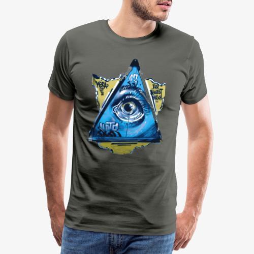 Streetart Auge 3 - Männer Premium T-Shirt