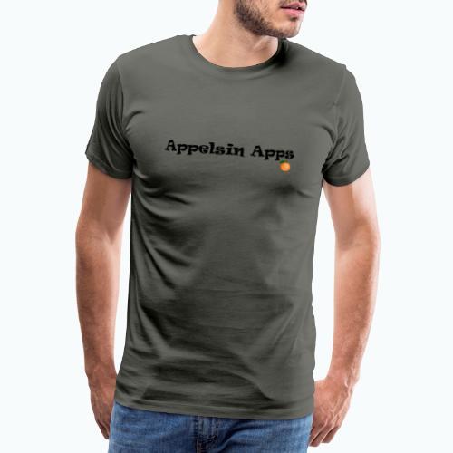 Appelsin Logo - Premium-T-shirt herr