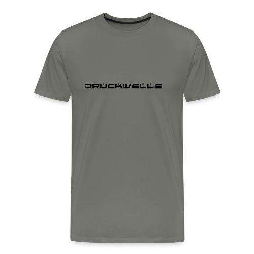 Druckwelle Schriftzug - Männer Premium T-Shirt