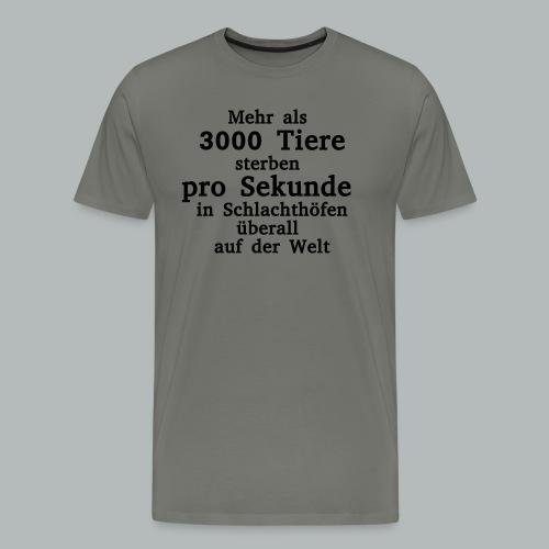 3000 Tiere die Sekunde - Männer Premium T-Shirt