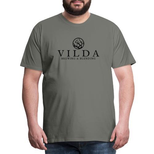 Vilda Black Logo - Premium-T-shirt herr
