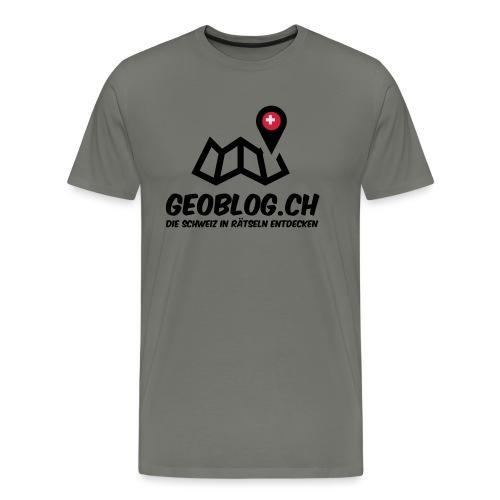 Logo+Schriftzug-hoch - Männer Premium T-Shirt