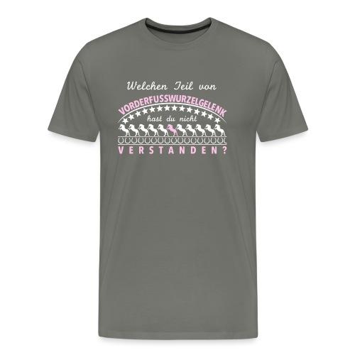 Vorderfußwurzelgelenk weiß rosa - Männer Premium T-Shirt