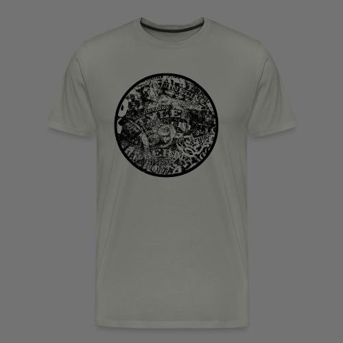 Urban Style musta 1C - Miesten premium t-paita