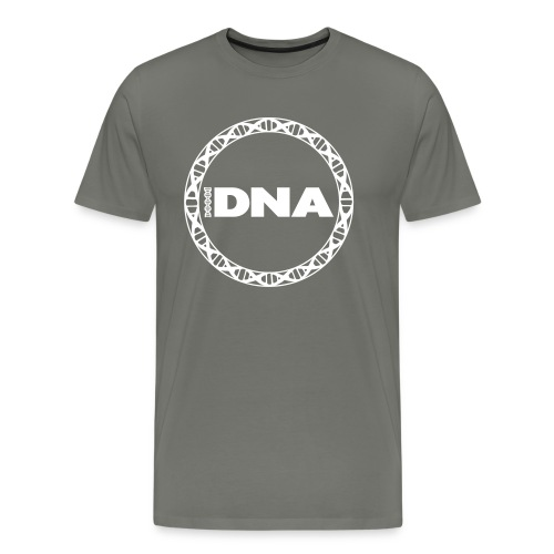 dna digital logo wit - Mannen Premium T-shirt