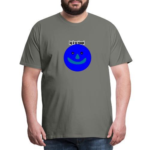 Jag är en triangel meme - Premium-T-shirt herr