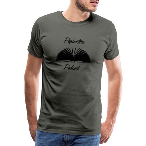Papierstau-Logo (dunkel) - Männer Premium T-Shirt