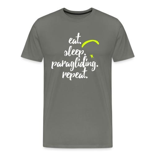 eat. sleep. paragliding. repeat. - Männer Premium T-Shirt