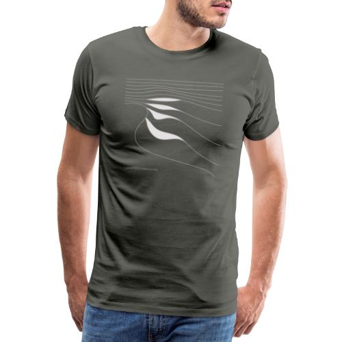 Wave Lines (light) - Männer Premium T-Shirt