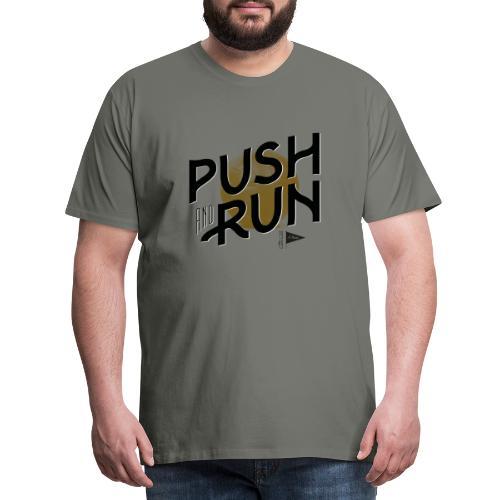 Push and run - Premium-T-shirt herr
