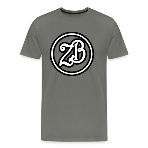ZB Vlogs Hat - Graphite/Black - Men's Premium T-Shirt