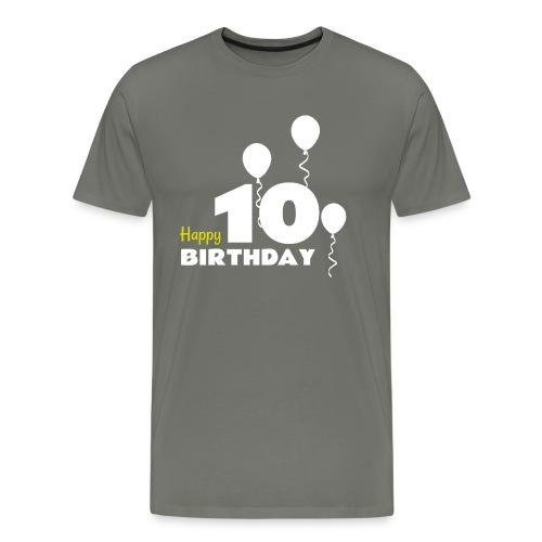 HAPPY birthday10 - Camiseta premium hombre