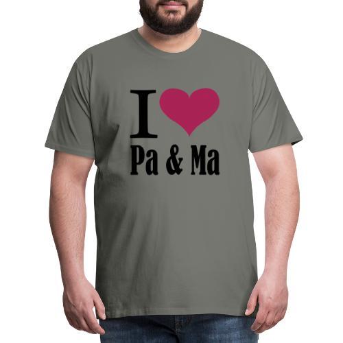 i love pa ma - Mannen Premium T-shirt