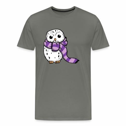 Schneeeule Lila - Männer Premium T-Shirt