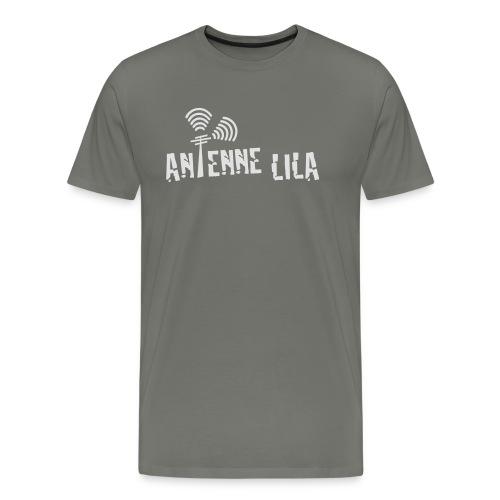 logo quer weiss 1c - Männer Premium T-Shirt