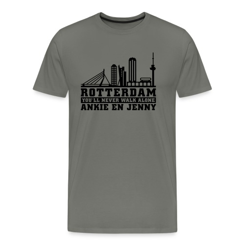 Skyline rotterdam 02 - Mannen Premium T-shirt