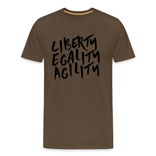Liberty Egality Agility - Tote Bag - T-shirt Premium Homme