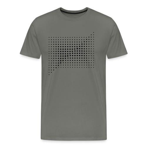 HALFTONE SQUARE COMPOSITON - Koszulka męska Premium