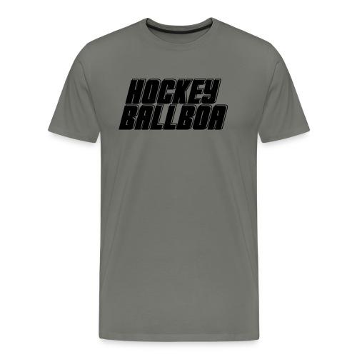 hockey ballboa mittel eine Farbe - Männer Premium T-Shirt