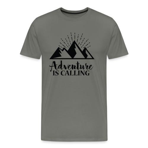 Adventure is calling Camping Mountain Go Explore - T-shirt Premium Homme