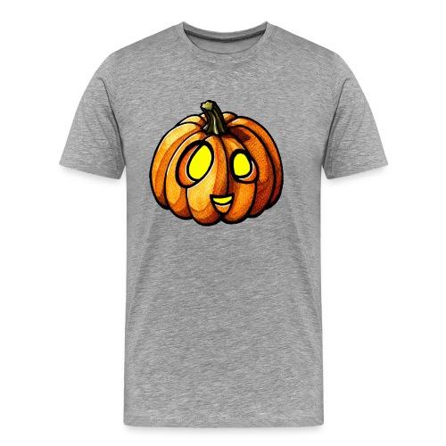 Pumpkin Halloween watercolor scribblesirii - Herre premium T-shirt