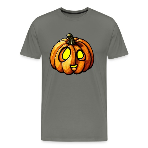 Pumpkin Halloween watercolor scribblesirii - Premium-T-shirt herr