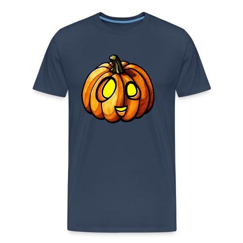 Pumpkin Halloween watercolor scribblesirii - Miesten premium t-paita