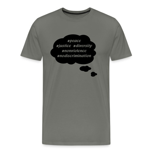 peace-justice_vereinfacht - Männer Premium T-Shirt