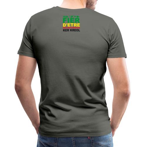 Logo fier d'etre kreol 974 ker kreol - Rastafari - T-shirt Premium Homme