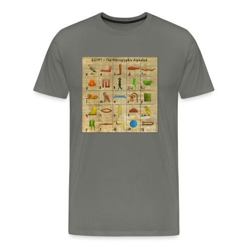 The Hieroglyphic Alphabet - Männer Premium T-Shirt
