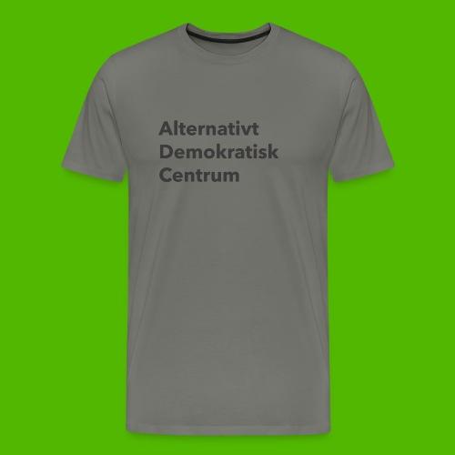 Gråt Navn - Herre premium T-shirt