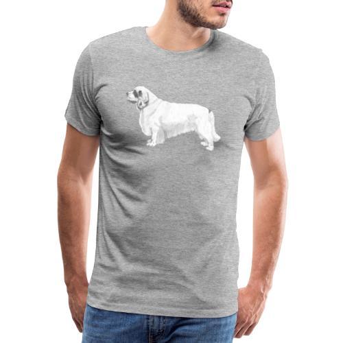 clumber spaniel - Herre premium T-shirt