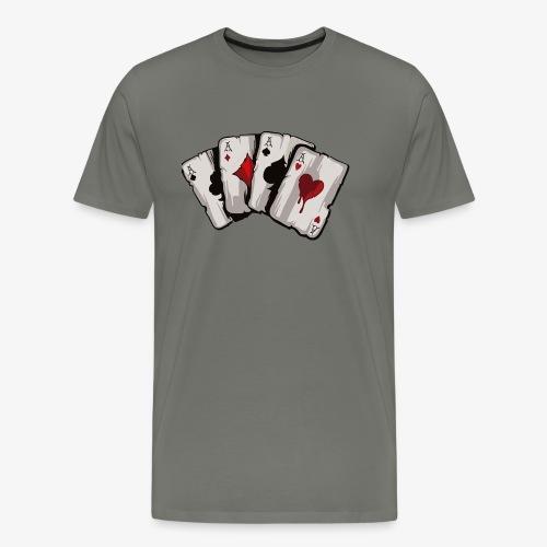 4 Asse und die NUTS - Männer Premium T-Shirt