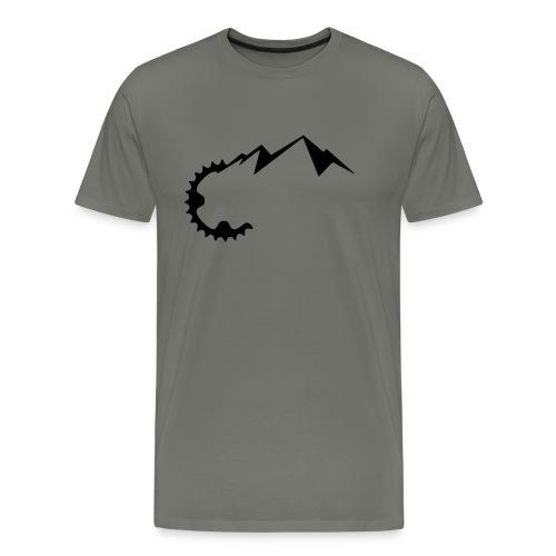 Kettenrad Mountains - Männer Premium T-Shirt
