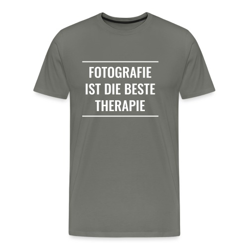 Fotografie ist die beste Therapie - Männer Premium T-Shirt