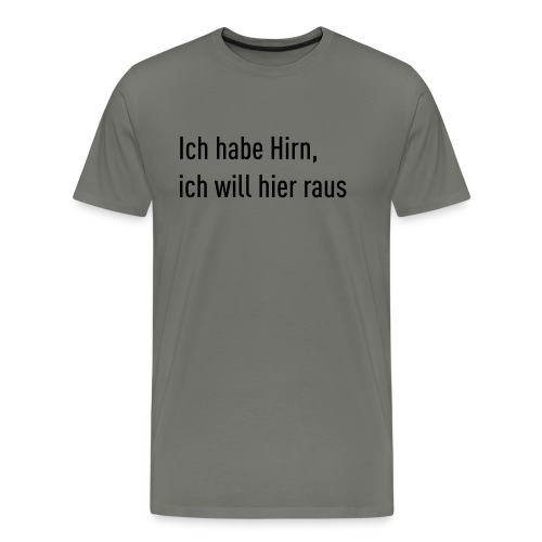 Flachsinn Tasse - Männer Premium T-Shirt