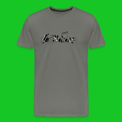 Muziek emoties transparant - Mannen Premium T-shirt