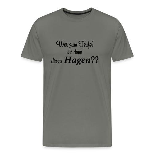 Wer zum Teufel - Männer Premium T-Shirt