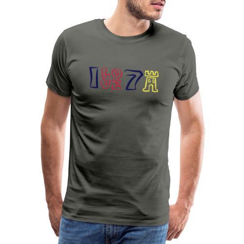 ILOVE7Buergen - Männer Premium T-Shirt