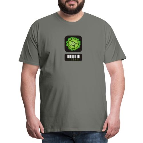 Vegan Barcode - Men's Premium T-Shirt