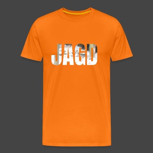 JAGD-Shirt für Jäger/innen, Motiv Winterjagd - Männer Premium T-Shirt