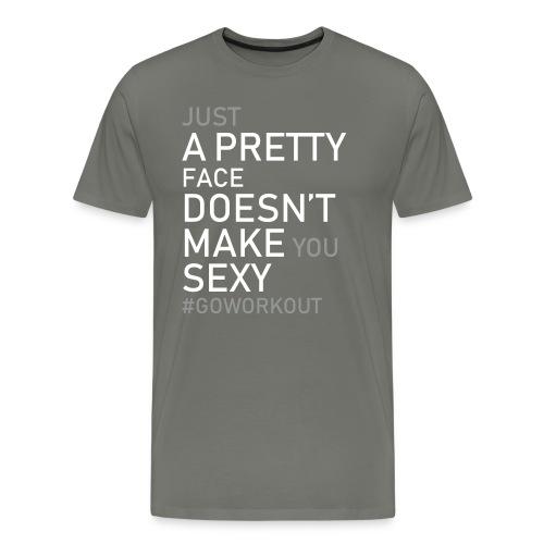 Just a pretty face... - Men's Premium T-Shirt