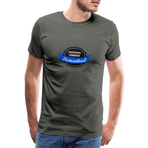 TFS Ruban noir et bleu - T-shirt Premium Homme