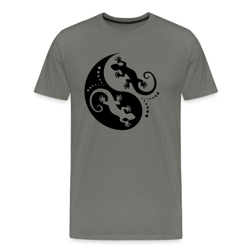 YIN & YANG Geckos black - Männer Premium T-Shirt