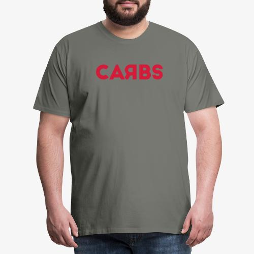 carbs logo - Men's Premium T-Shirt