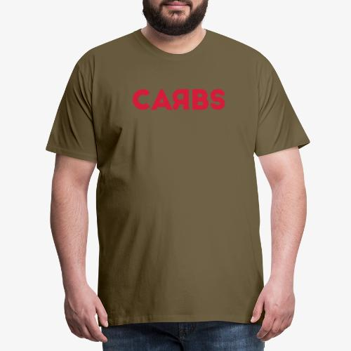 carbs logo - Men's Premium T-Shirt