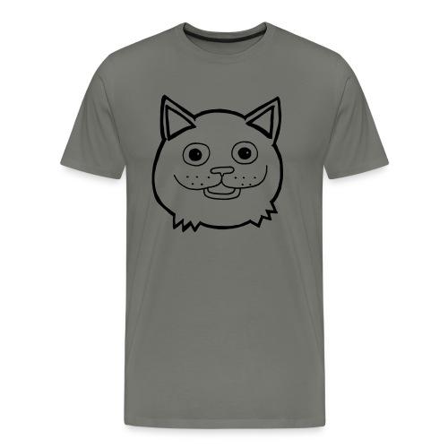 Katthuvud - Premium-T-shirt herr