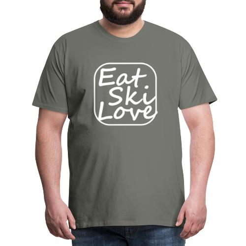 eat ski love - Mannen Premium T-shirt